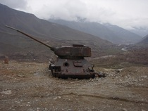 From Russia with Love Abandoned T-- tank outside of Massouds tomb in Afghanistan