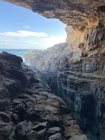 From the cave at the back of Flinders Cravasse Whalers Way Eyre Peninsula South Australia A beautiful and wild part of the world