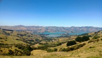 From the Hill Top overlooking Banks Peninsula New Zealand