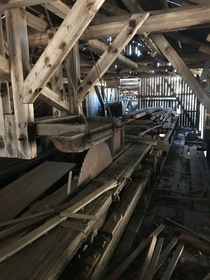 From the inside of the sawmill connected to my parents farm - last used in  Now mainly used as storage for wood