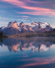 From the shore of Lake Pehoe Torres del Paine National Park  by Marco Grassi Photography