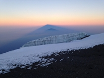 From the summit of Mount Kilimanjaro