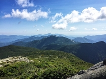 From the top of Mount Marcy in the Adirondacks High Peaks region New York