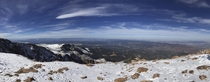 From the top of Pikes Peak CO