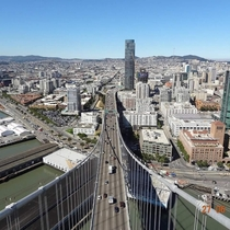 From the top of the Bay Bridge peering into San Francisco