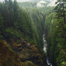 From the top of Wallace Falls Skykomish valley WA  x