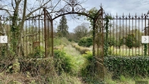 Front Gates to an Abandoned Chateau Austria