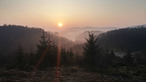 Frosty sunrise near Aberfoyle Scotland