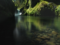 Frozen feet worth every second for this five minute exposure of Punchbowl Falls in Columbia River Gorge OR