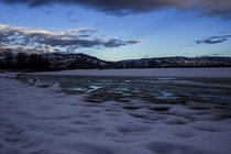 Frozen ground - Pineview Reservoir Utah