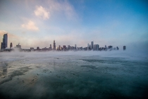 Frozen lake Chicago Illinois    Benn Jordan