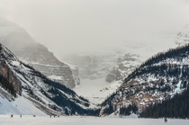 Frozen Lake Louise AB Canada