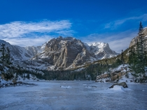 Frozen Loch Lake - Rocky Mountain National Park CO
