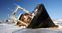 Frozen ship - Arctic Russia huge  picture album in comments