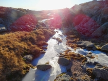 Frozen stream at Serra da Estrela Portugal