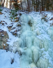 Frozen waterfall Westport Ontario Canada  OC