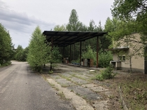 Fuel station in abandonned USSR military area Czech Republic