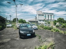Fukushima exclusion zone parking lot  Full album in comments