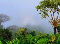 Full circle rainbow spotted by my partner during our drive through Sarch Costa Rica