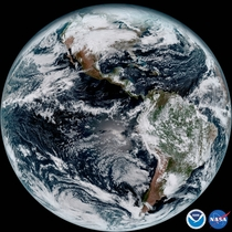 Full Disk Image of Earth Taken by GOES-