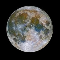 Full Moon revealing its mineral composition