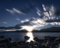 Full Moonrise over Lake Tekapo - New Zealand