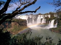 Full View of Igusz Falls from Argentine Side ArgentinaBrazil