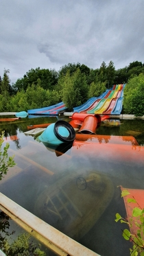 Fun Park Fyn Denmark Closed since  nature around it is slowly swallowing it