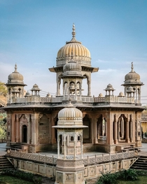 Gaitor Cenotaphs of the maharajas of Jaipur India