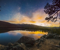 Galactic Sunset over Echo Lake Colorado  downsized