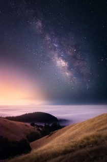 Galaxy above the fog  Bay Area California