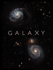 GALAXY Space Art with two Deep Sky Images taken through my Telescope Composition
