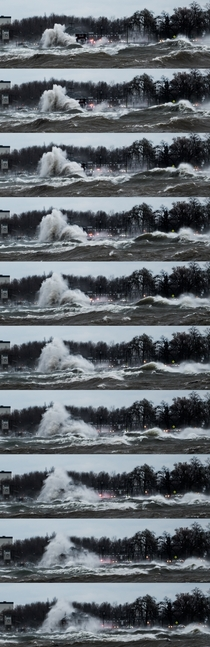 Gale Force winds on Lake Erie BuffaloNY