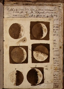 Galelio galileis Moon drawings