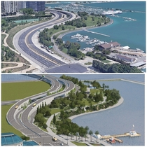 Game vs Real Life A Recreation to Lake Shore Drives S -Curve in Cities Skylines