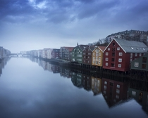 Gamle Bybro Old City Bridge Trondheim Norway