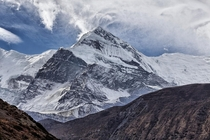 Gangapurna in the Nepalese Himalayas photographed by Florent Chevalier
