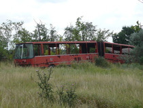 Ganz-Ikarus prototype trolleybus near Szeged Hungary