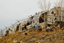 garbage truck graveyard New Mexico OC  X