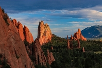 Garden of the Gods at Sunset - Colorado