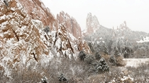Garden of the Gods Winter in Colorado
