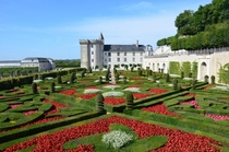 Gardens in the Chteau de Villandry Indre-et-Loire France