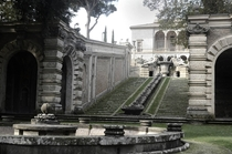 Gardens of Villa Farnese at Caprarola Italy