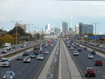 Gardiner Expressway with collector-express lanes Toronto