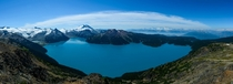 Garibaldi Lake as seen from the top of Panorama Ridge today OC