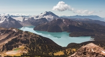 Garibaldi lake as taken from Black Tusk peak British Columbia Photo taken September