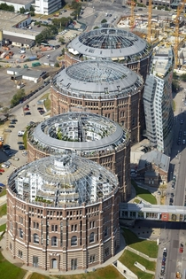 Gasometers of Vienna in Vienna Austria