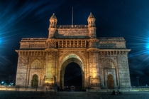 Gateway of India at night by Vijay Sharma