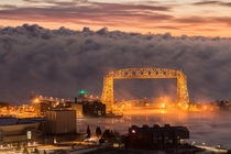 Gateway to Winter - Duluths Aerial Lift Bridge