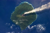 Gaua Island a Volcano in the Southwest Pacific Seen from Space